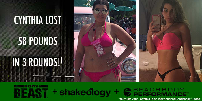 Transformation Tuesday: Cynthia Lost 58 Pounds with Body Beast!