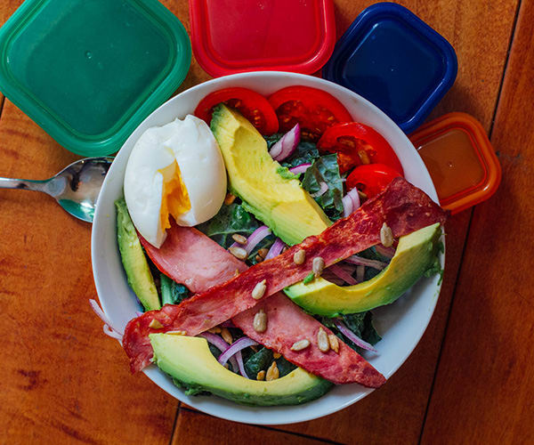 Breakfast Salad with Kale and Turkey Bacon | BeachbodyBlog.com