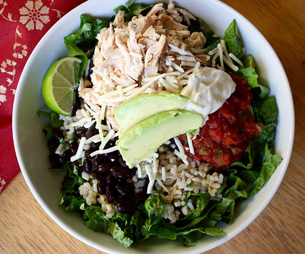 Chicken and Black Bean Burrito Bowl Recipe | BeachbodyBlog.com