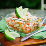 Make this Baja-style Shrimp Ceviche as mild or spicy as you want with Serrano chilis, succulent shrimp, fresh lime juice, and refreshing cucumber.