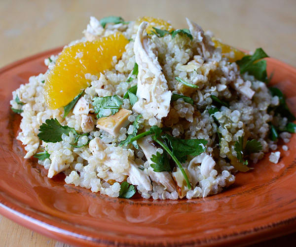 Chicken with Quinoa Oranges Walnuts