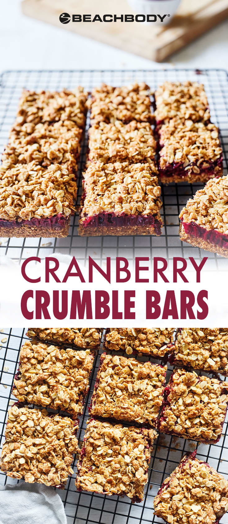 These mouthwatering Cranberry Crumble Bars feature a sweet and tart cranberry orange filling on a dense pastry crust topped with crisp oats.