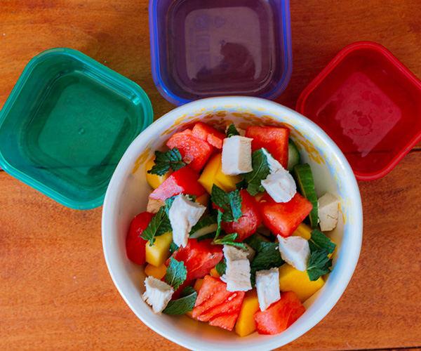 Cucumber, Watermelon, and Mango Salad with Mint | BeachbodyBlog.com