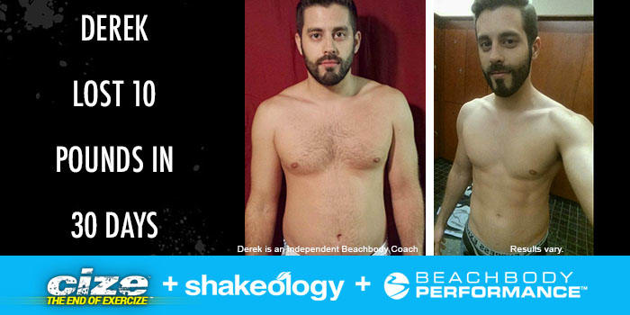 Transformation Tuesday: Derek Lost 10 Pounds With CIZE!