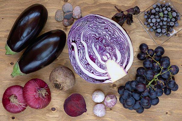 Eat the Rainbow Blue Purple Eggplant Beets