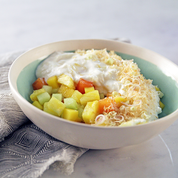 Pina Colada Fruit and Yogurt Salad