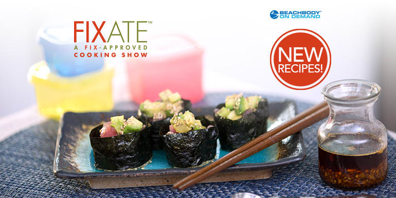 Ahi and Avocado Quinoa Sushi With Sesame Infusion