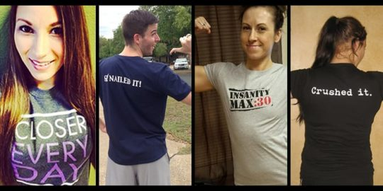Get a free shirt when you complete a Beachbody program