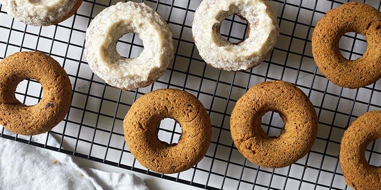 Gluten-Free Baked Pumpkin Donuts with Maple Glaze