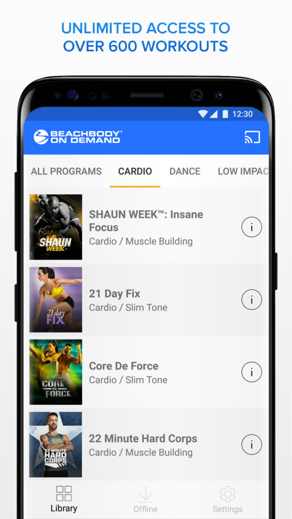 Beachbody On Demand Android app