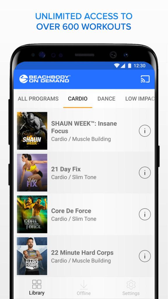 Beachbody On Demand Android app