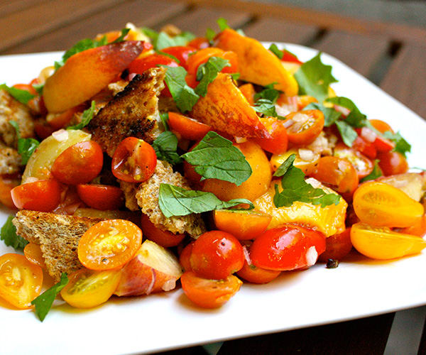 Grilled Peach Panzanella | BeachbodyBlog.com