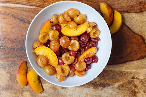 Grilled Peaches and Cherries   BeachbodyBlog.com