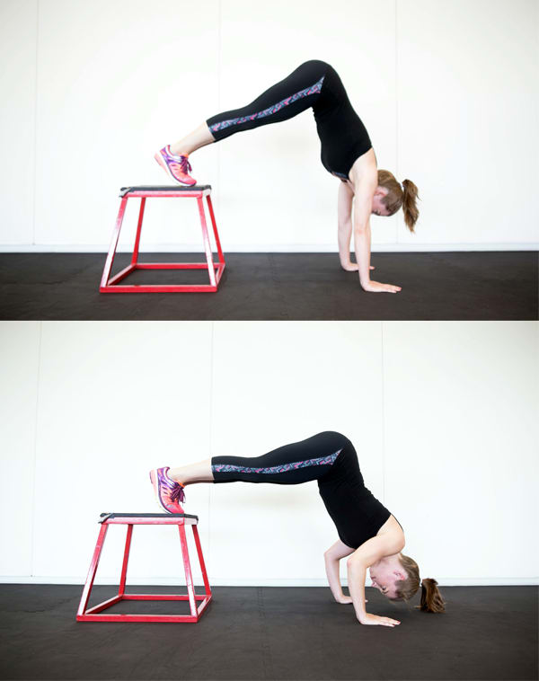 4 Moves that Can Give You Arms Like a Gymnast - Handstand Push-Ups