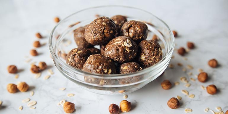 Hazelnut Latte Protein Balls