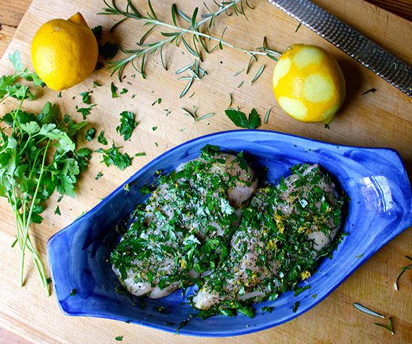 Herb Chicken Preparation
