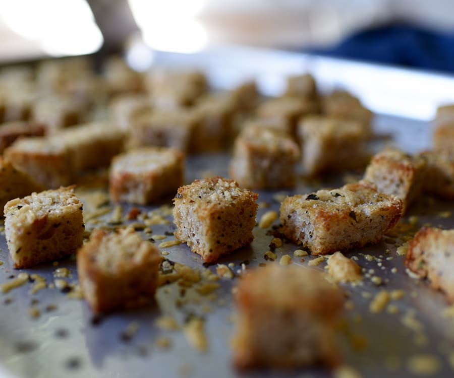 Homemade Croutons with Parmesan and Herbs Recipe | BeachbodyBlog.com