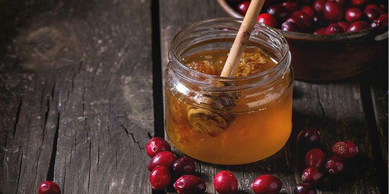 Honey Cranberry Rosemary Simple Syrup