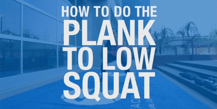 How to Do the Plank to Low Squat