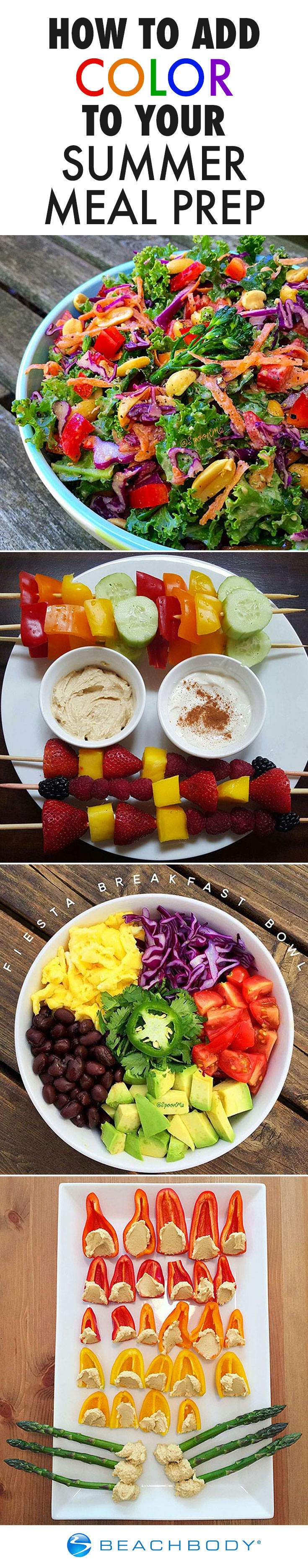 How to Add Color to Your Summer Meal Prep