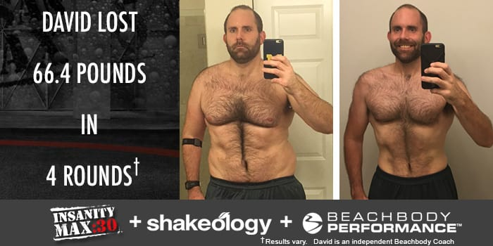 Transformation Tuesday: David Lost 66.4 Pounds With INSANITY MAX:30!