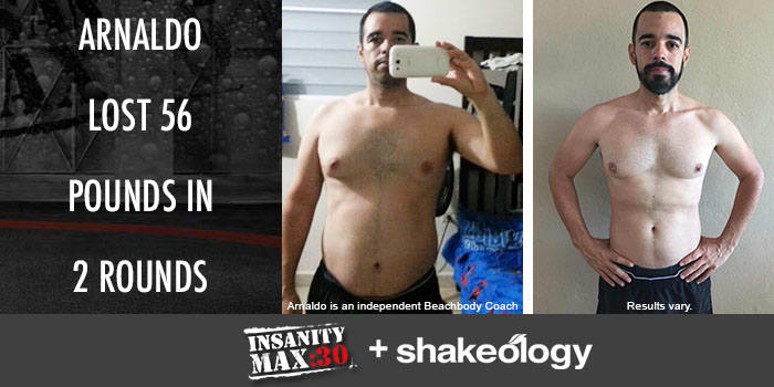 Transformation Tuesday: Arnaldo Lost 56 Pounds with INSANITY MAX:30!