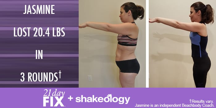 Transformation Tuesday: Jasmine Lost 20.4 Pounds With 21 Day Fix