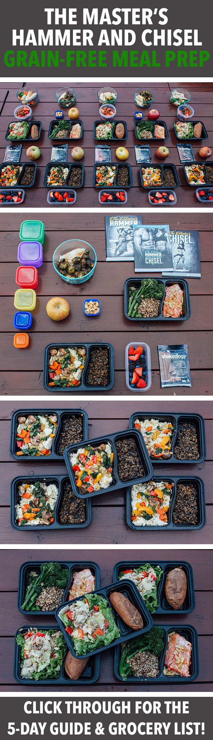 Go Grain Free with This 1,500-1,800 Calorie Meal Prep For The Master's Hammer and Chisel
