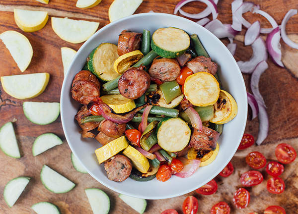 Marinated Summer Veggies with Chicken Sausage | BeachbodyBlog.com