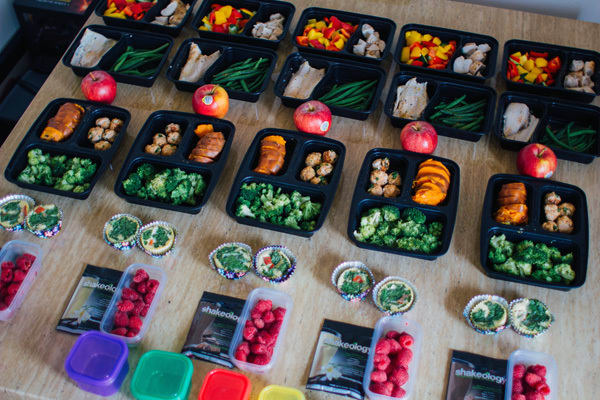 This 1800-2100 Calorie 21 Day Fix Extreme Meal Prep Features Baked