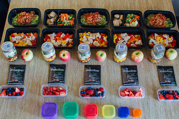 Mason Jar 21 Day Fix Meal Prep for the 1,500-1,800 Calorie Level