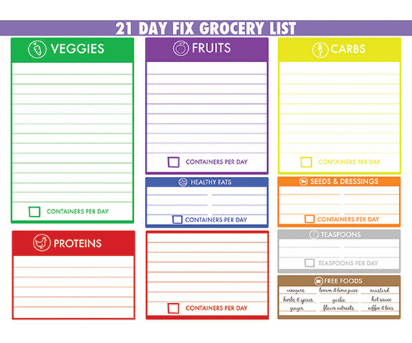 Meal Prep Monday Grocery List