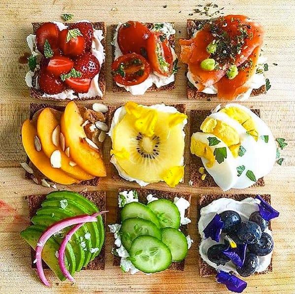 Meal prep snacks toast ideas