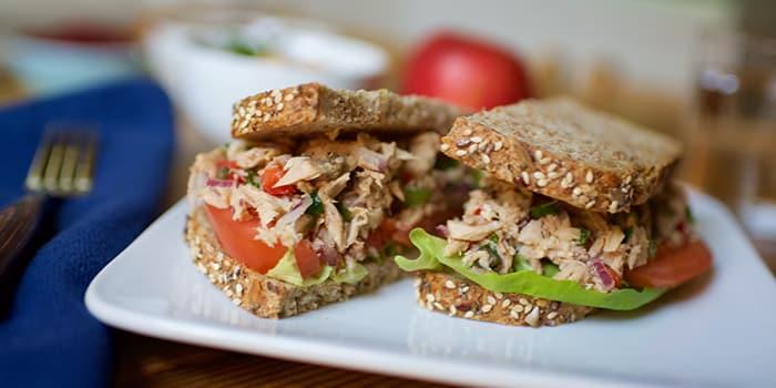 Tuna salad sandwich recipe the beachbody blog for Tuna fish salad calories