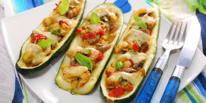 Mexican Chicken Zucchini Boats