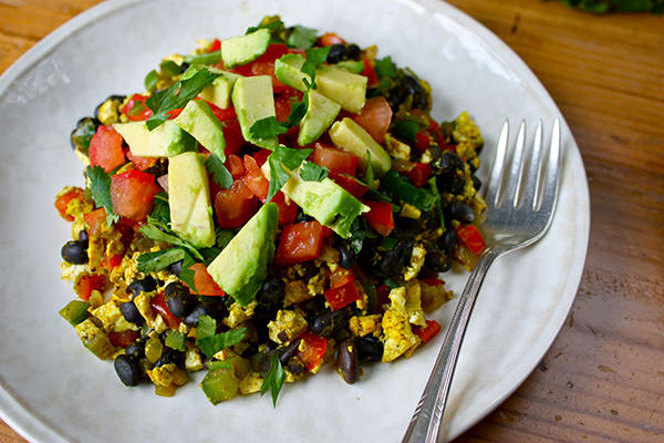 Healthy Breakfast - Mexican Tofu Breakfast Scramble