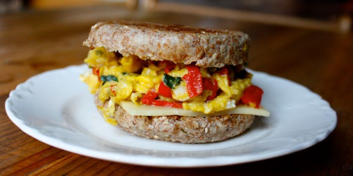 Mozzarella and Egg Breakfast Sandwich