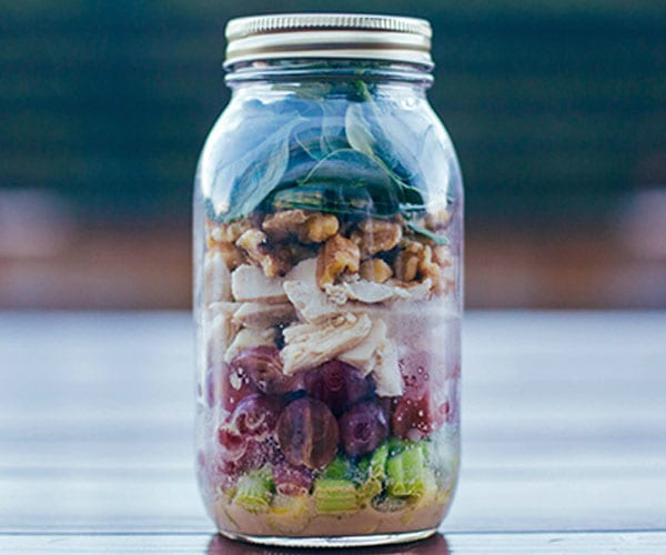 Mustard Chicken and Spinach Salad in a Mason Jar Recipe | BeachbodyBlog.com
