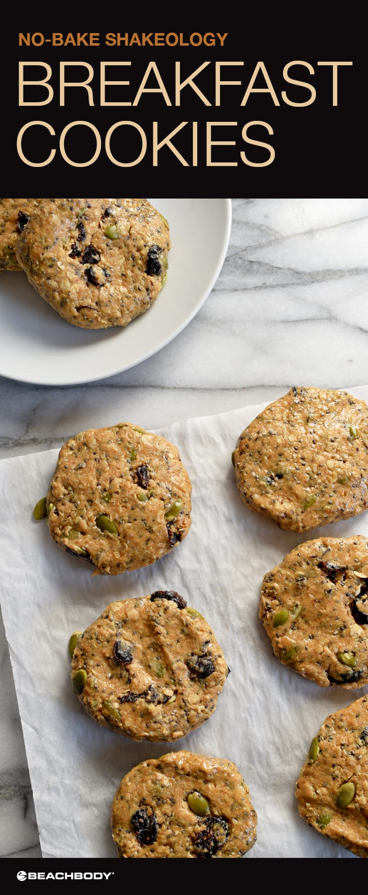 No-Bake Shakeology Breakfast Cookies