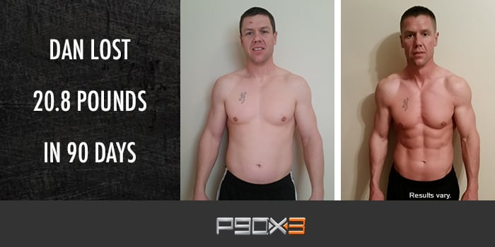 Transformation Tuesday: Dan Lost 20.8 Pounds With P90X3!