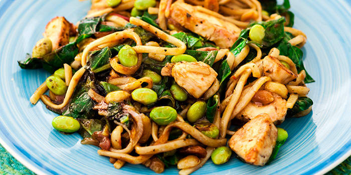 Peanut Chicken with Soba Noodles