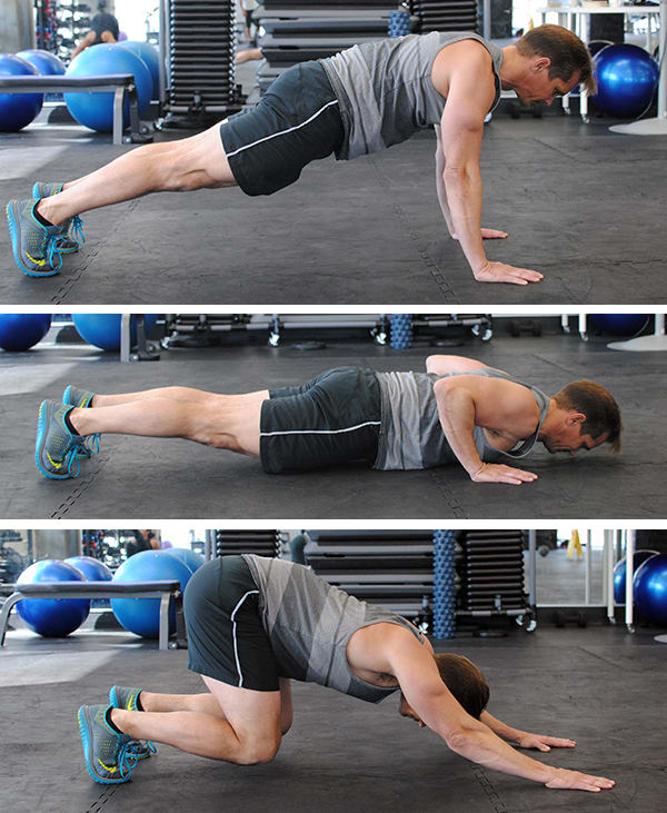 5 Genius Pushup Improvements Push Back Pushup | BeachbodyBlog.com