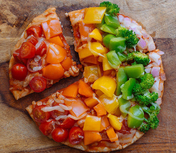 Rainbow Flatbread Pizza