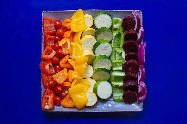 Rainbow Vegetable Skewers Recipe | BeachbodyBlog.com