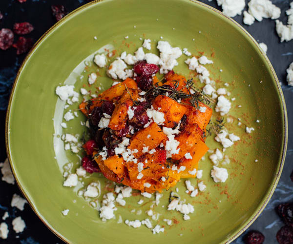 Roasted Butternut Squash with Cranberries and Feta | BeachbodyBlog.com