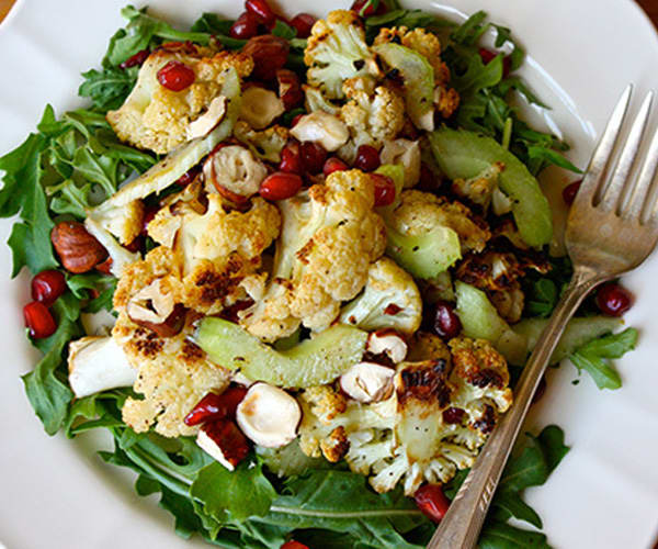 Roasted Cauliflower Salad with Pomegranate and Hazelnuts | BeachbodyBlog.com