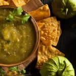 This fresh, vibrant tomatillo salsa verde is great on everything from tacos, burgers, and fish to baked potatoes with fresh jalapeño and bright tomatillos.