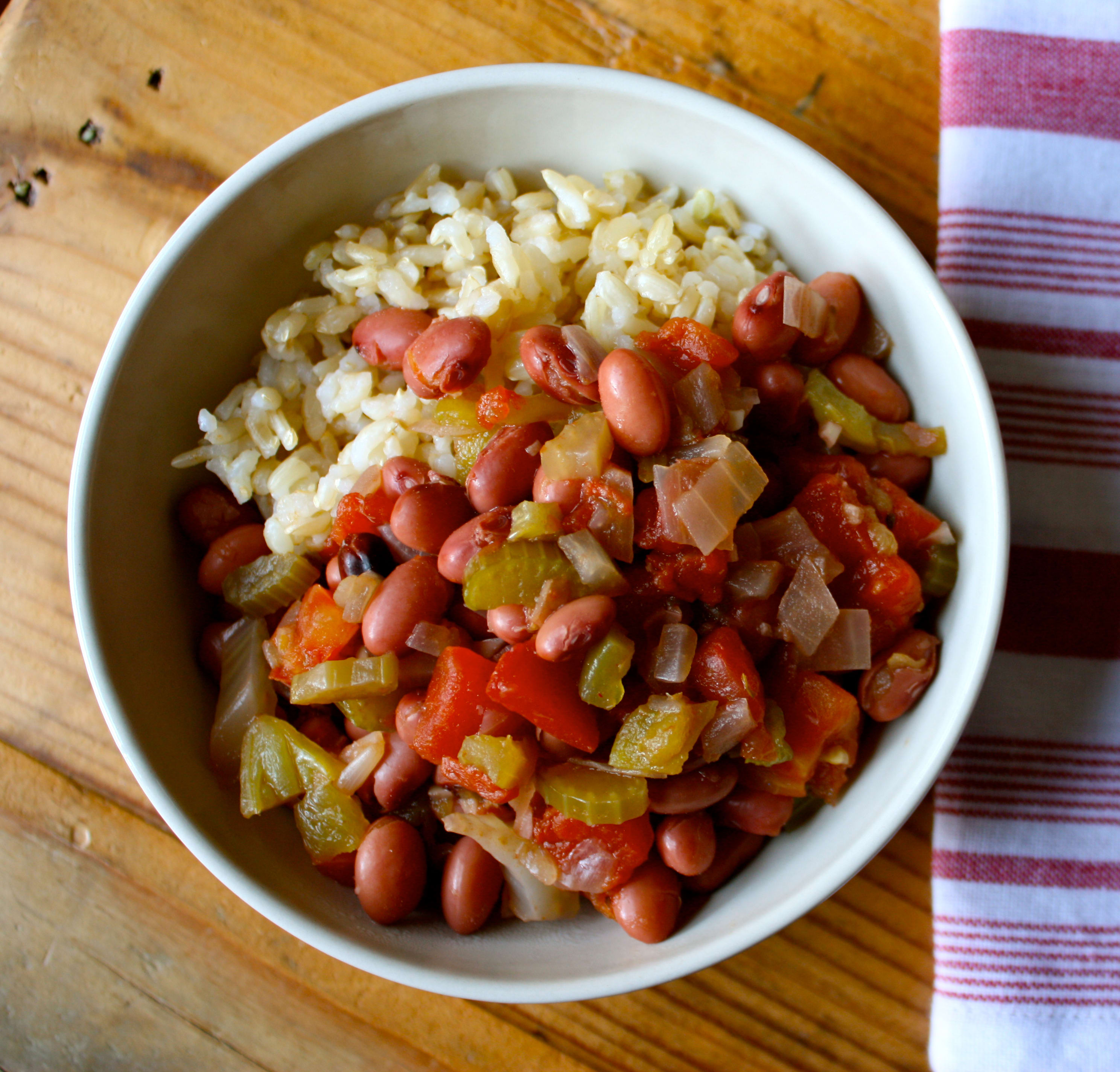 Easy Slow Cooker Recipes: Savory Slow Cooker Beans with Rice