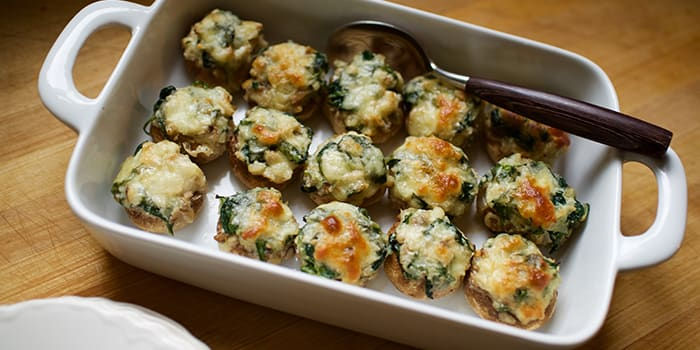 how to cook stuffed mushrooms with cheese