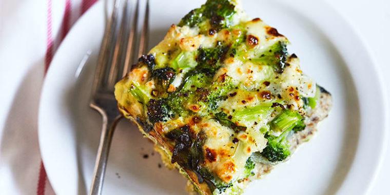 Spinach and Broccoli Strata Recipe